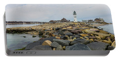 Scituate Lighthouse And Cedar Point Portable Battery Charger