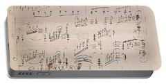 Score Sheet Of Moonlight Sonata Portable Battery Charger
