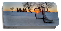 Portable Battery Charger featuring the photograph Scoring The Sunset 2 by Darcy Michaelchuk