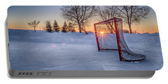 Portable Battery Charger featuring the photograph Scoring The Sunset 3 by Darcy Michaelchuk