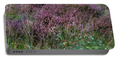 Portable Battery Charger featuring the photograph Scotish Heather by Mary-Lee Sanders