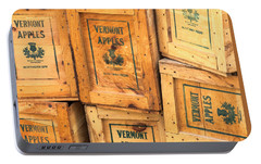 Portable Battery Charger featuring the photograph Scott Farm Apple Boxes by Tom Singleton