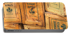 Scott Farm Apple Boxes Portable Battery Charger by Tom Singleton