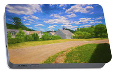 Portable Battery Charger featuring the photograph Scott Farm Vista by Tom Singleton