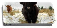 Scottish Black Highland Coo Portable Battery Charger