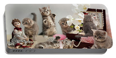 Scottish Fold Cats Portable Battery Charger by Evgeniy Lankin