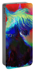 Scottish Terrier Dog Painting Portable Battery Charger by Svetlana Novikova