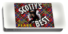 Portable Battery Charger featuring the painting Scotty's Best Washington State Pears by Peter Gumaer Ogden