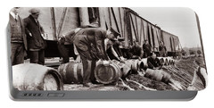 Scranton Police Dumping Beer During Prohibition  Scranton Pa 1920 To 1933 Portable Battery Charger
