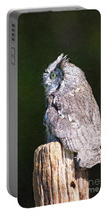 Screech Owl Profile Portable Battery Charger