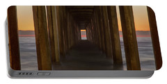 Scripps Pier At Sunset Portable Battery Charger