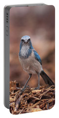 Scrub Jay On Chop Portable Battery Charger
