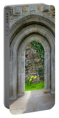 Portable Battery Charger featuring the photograph Sculpted Portal To Irish Spring Garden by James Truett