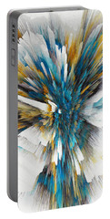 Portable Battery Charger featuring the painting Sculptural Series Digital Painting 08.072311ex490l by Kris Haas
