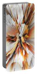 Portable Battery Charger featuring the digital art Sculptural Series Digital Painting 22.120210eext290lsqx2 by Kris Haas