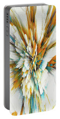 Portable Battery Charger featuring the digital art Sculptural Series Digital Painting 05.072311ex590lvs.jpg  by Kris Haas