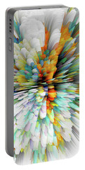 Portable Battery Charger featuring the digital art Sculptural Series Painting23.102011windblastsccvsext4100l by Kris Haas