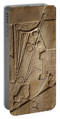 Sculptured Panel - Influenced By Picasso's Painting Having The Number 1 Portable Battery Charger