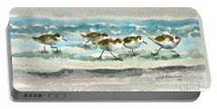 Scurrying Along The Shoreline 2  1-6-16 Portable Battery Charger