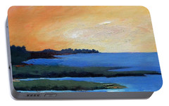 Portable Battery Charger featuring the painting Sea And Sky by Gary Coleman