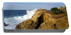 Portable Battery Charger featuring the photograph Sea Cave Big Sur by Floyd Snyder