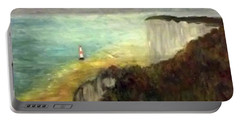 Sea, Cliffs, Beach And Lighthouse Portable Battery Charger