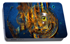 Portable Battery Charger featuring the painting Sea Fish by Alexa Szlavics