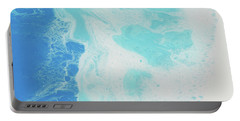 Portable Battery Charger featuring the painting Sea Foam by Nikki Marie Smith