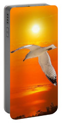 Portable Battery Charger featuring the photograph Sea Gull by Athala Carole Bruckner