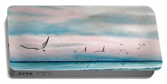 Sea Gulls On The Gulf Portable Battery Charger by Lloyd Dobson