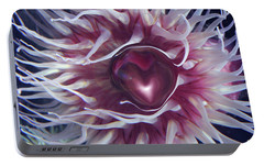 Portable Battery Charger featuring the digital art Sea Heart by Linda Sannuti