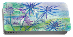 Sea Holly Portable Battery Charger by Veronica Rickard