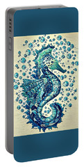 Portable Battery Charger featuring the digital art Sea Horse A by Megan Walsh
