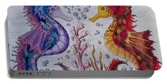 Sea Horses In Love Portable Battery Charger