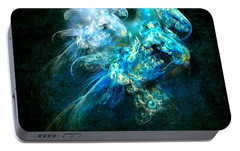 Portable Battery Charger featuring the painting Sea Jellyfish by Alexa Szlavics