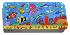 Sea Life Portable Battery Charger by Artists With Autism Inc