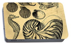 Portable Battery Charger featuring the drawing Sea Life Vintage Illustrations by Edward Fielding