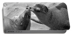 Portable Battery Charger featuring the photograph Sea Lion Tenderness by John F Tsumas