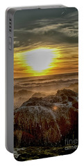 Sea Mist Sunset Portable Battery Charger