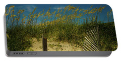Sea Oats And Sand Fence Portable Battery Charger by John Harding