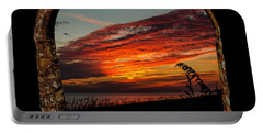 Sea Oats And Sunset Portable Battery Charger
