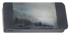 Portable Battery Charger featuring the painting Sea Oats by Judith Rhue
