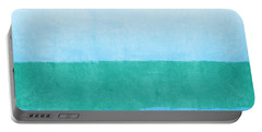 Sea Of Blues Portable Battery Charger by Linda Woods