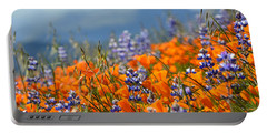 Sea Of California Wildflowers Portable Battery Charger