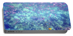 Sea Of Fish Portable Battery Charger by Karen Nicholson