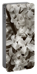 Sea Of Lilacs Sepia Portable Battery Charger