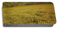 Portable Battery Charger featuring the photograph Sea Of Yellow Up In The Temblor Range At Carrizo Plain National Monument by Jetson Nguyen