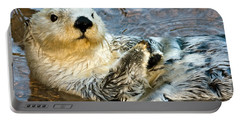 Sea Otter Portrait Portable Battery Charger