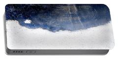 Sea, Satellite - Coast Line On Blue Ocean Illusion Portable Battery Charger