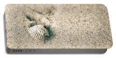 Portable Battery Charger featuring the photograph Sea Shell On Beach  by John McGraw